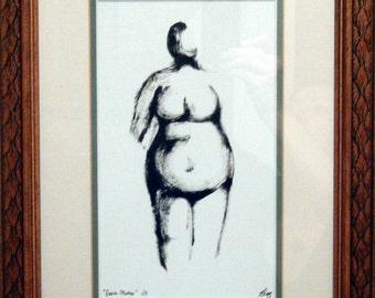 Original digital drawing 'Earth Mother'