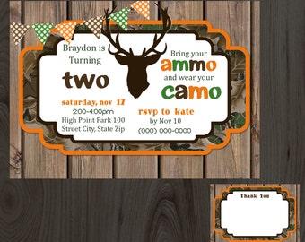 Camo Birthday Party Invitation DIY Printable