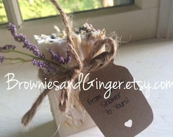 Bridal Shower Favors,wedding favors,wedding favors rustic,rustic wedding favor,party favor Lavender Calendula Guest Soap  2oz