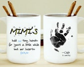Hold Our Tiny Hands with Childs Handprint Mug