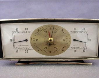 Vintage , retro Weather station, Airguide,  desk top, barometer