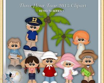 Retro TV Series Clipart, island, Three hour Tour Clipart
