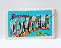 POST CARD BOOKLET, Vintage Galveston Texas post card set, Galveston Beach postcards,vintage set of post cards,book of postcards,vintage card