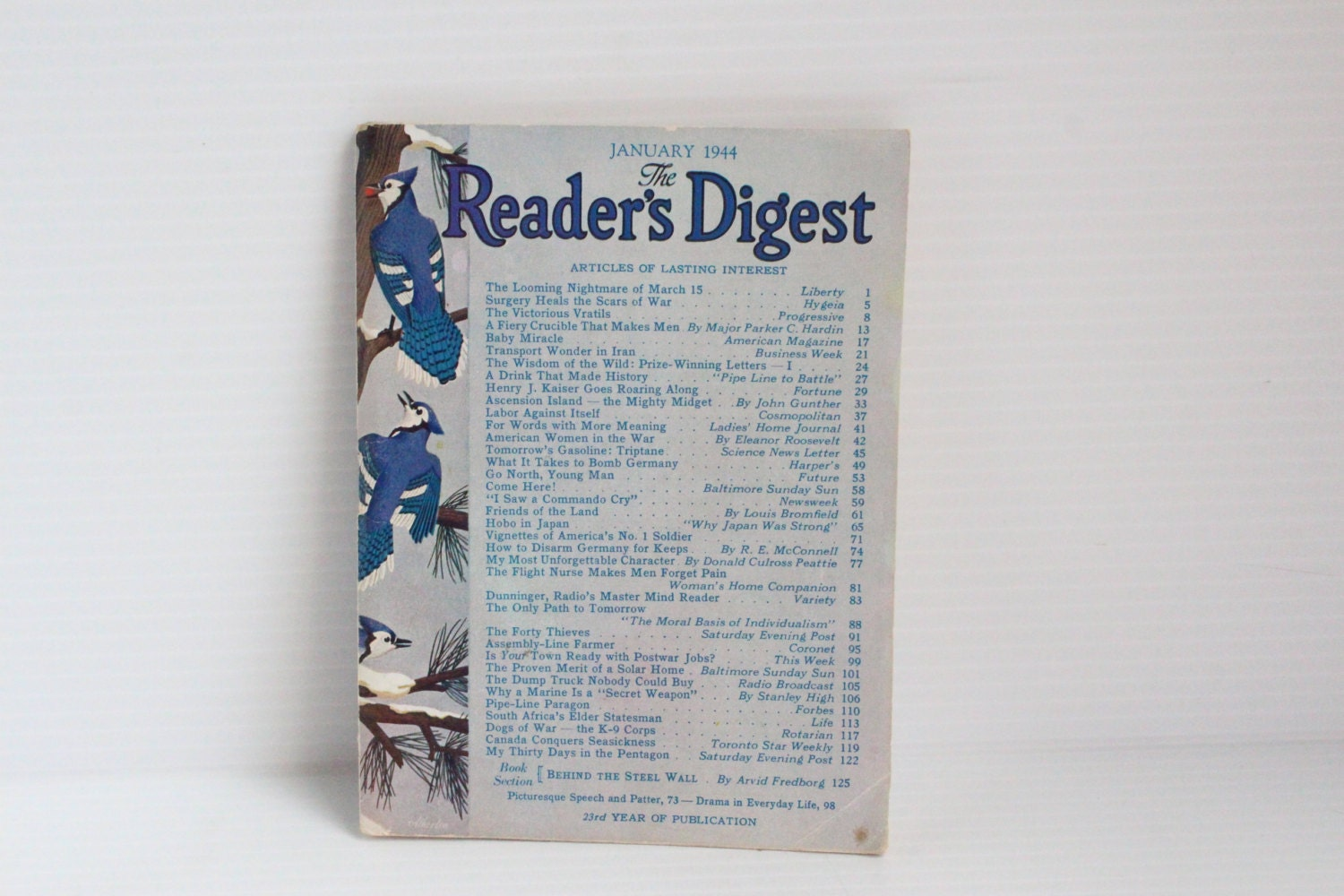 READER'S DIGEST January 1944 Vintage Magazine Vintage