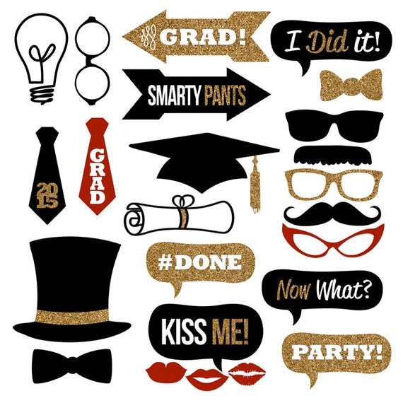 Declarative image for free printable graduation photo booth props