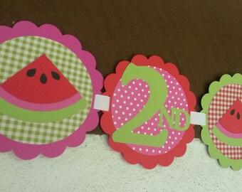 Watermelon Birthday Party Banner!!