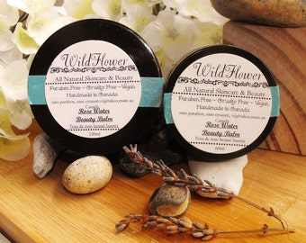 Rose Water Beauty Balm, Cruelty free, Paraben Free, Vegan, All Natural