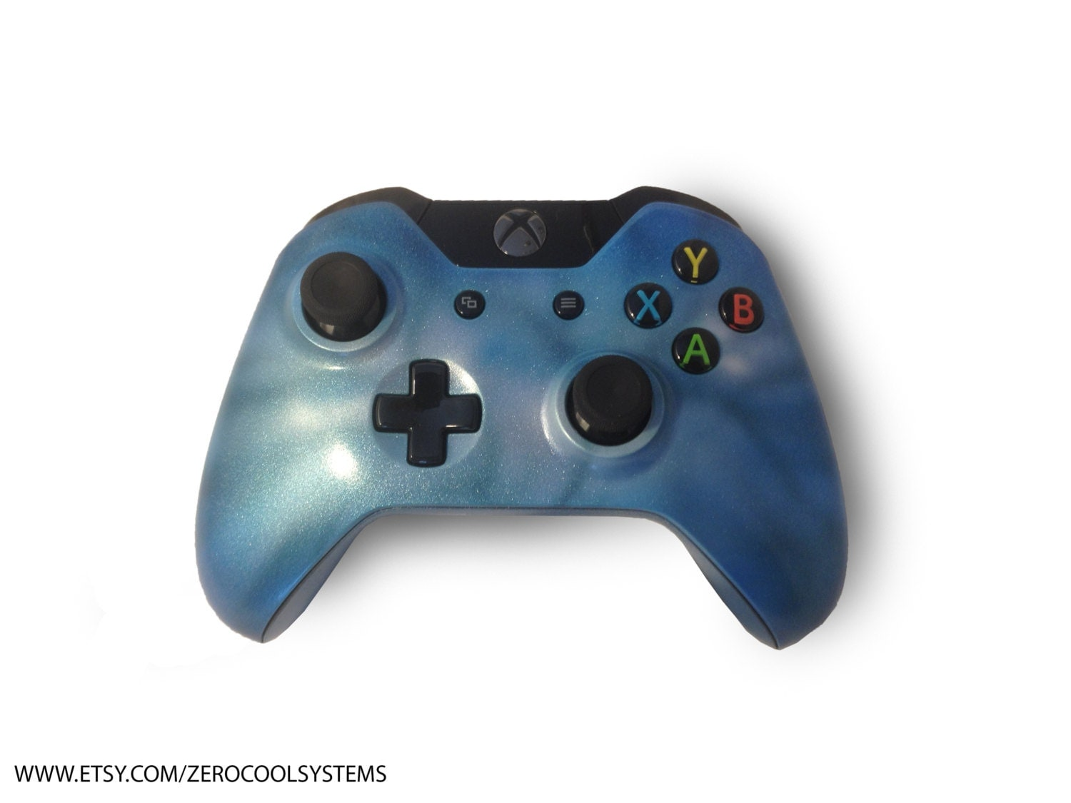 Custom Painted Xbox One Controller Mystic Blue