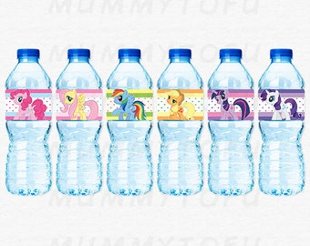 My Little Pony Birthday Party Water Bottle Labels - DIY Party Printable Instant Download
