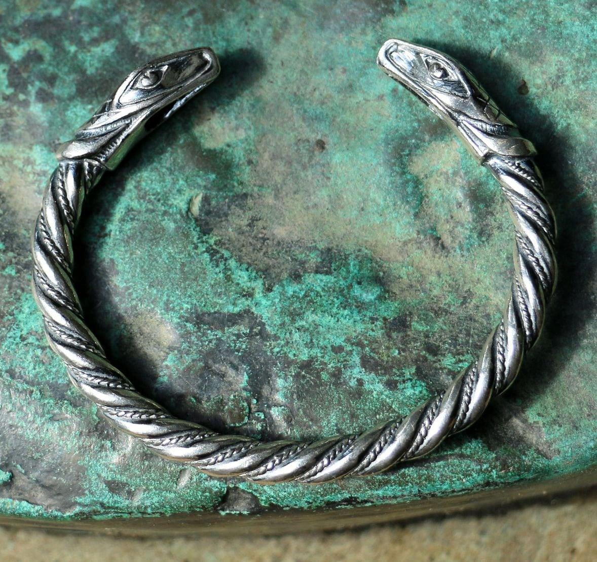 J 214 Rmungandr Midgard Serpent Silver Snake Bracelet Sterling