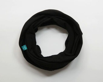 Classic black Infinity Scarf, Infinity Scarf, Loop Scarf, Mother and Daughter scarf,  Eternity Scarf