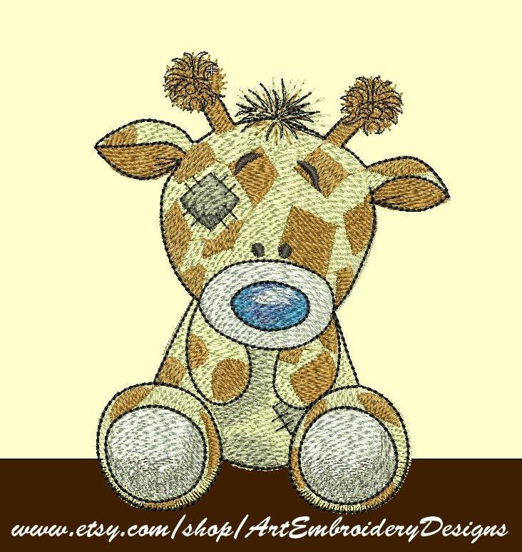 Giraffe Twiggy Machine Embroidery Designs By ArtEmbroideryDesigns
