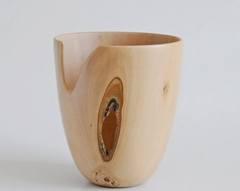 Holly wooden vase,handturned,handmade.