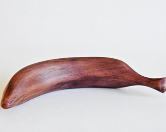 Wooden stained Banana handmade carved