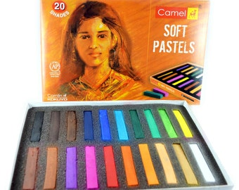 Camel Soft Pastels/Artist Chalk 20 Colors, Full Length Sticks