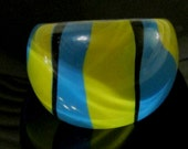 Vintage Lucite Multi colored Mod Ring, Size 8
