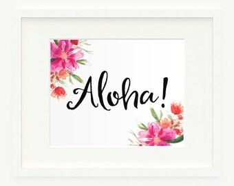 Hawaii Calligraphy Etsy