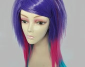 Sin Straight Layered Wig in Purple Pink Aqua LAST ONE