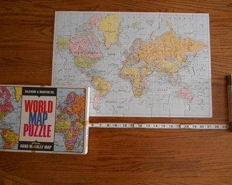 1960's World Map Puzzle  by Selchow & Righter Co. and Rand McNally