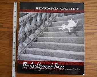 The Gashlycrumb Tinies, Edward Gorey 2000 Calender, Mysterious, Odd E Gorey Art, Masterpiece Mystery Type Art
