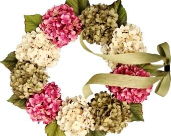 New Home Housewarming Gift Ideas | Summer Wreaths | Hostess Gift | Front Door Wreaths | Hydrangea Wreath | Summer Wreath | Gift for Home