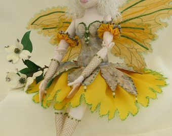 fairy ooak art cloth doll