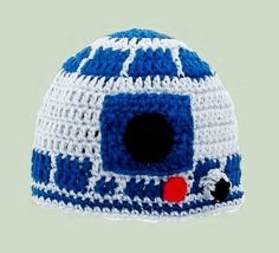 R2d2 Hat Knitting Pattern : R2D2 Star Wars knitted childrens hat pattern