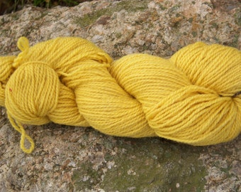 Yellow-DK weight-Border Leicester yarn-100% wool
