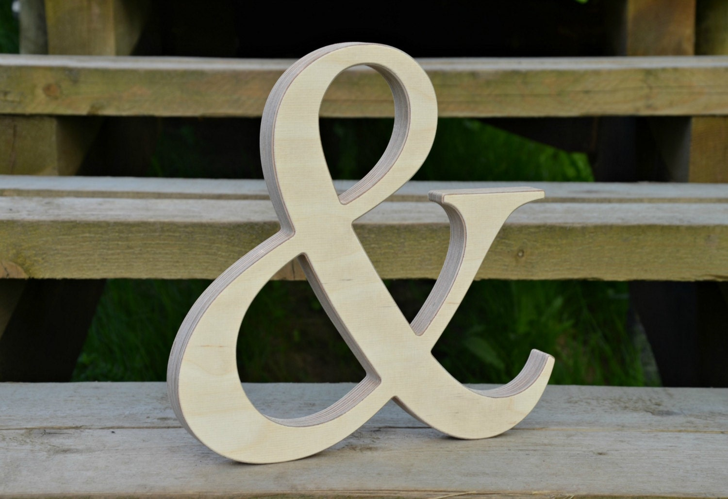8 39 39 wood ampersand for rustic wedding decor wooden for Ampersand decor