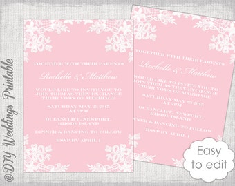 a wedding invitation kraft wedding invitation template diy by diyweddingsprintable 1203