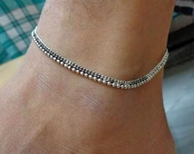Anklet,gypsy foot jewelry,indian anklet,slave anklet,ankle bracelet,belly dance indian jewelry,bells chain anklet,ethnic indian anklet
