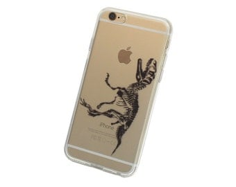 T Rex Dinosaur Fossil iPhone Case, Your choice of Soft Plastic (TPU) or Wood