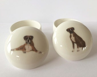 Small Boxer Trinket Box