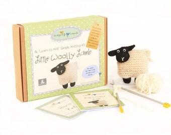 Little Woolly Lamb - Learn to Knit Kit
