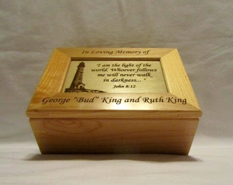 Personalized Wooden Memorial Keepsake Box