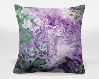 decorative pillow with abstract art 14x20 16x16 18x18
