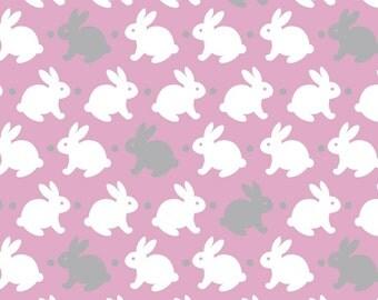 Bunnies Fleece Fabric by the yard...