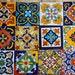 "48 Mexican Talavera Tile mix 4x4 """