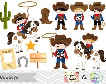 Instant Download Cowboys Digital Clip Art Wild West Cowboy Digital Clipart Little Cowboy Clipart Wild West Clip Art Cowboy Little Boy 00185