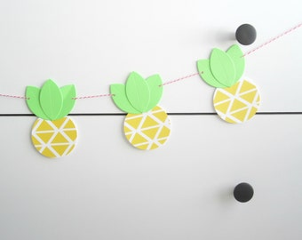 Luau Party Decorations - DIY Pineapple Garland or Banner