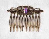 Fused Glass Hair Comb, Hair Accessories, Wedding Hair, Beautiful Hair, dichroic glass