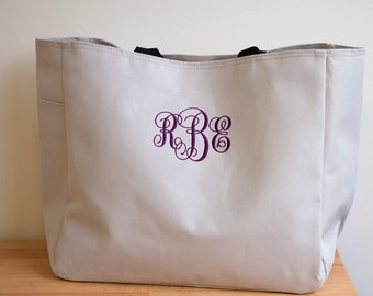 5 Personalized Bridesmaid Gift Tote Bags Monogrammed Tote, Bridesmaids Tote, Personalized Tote