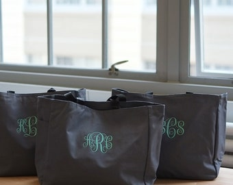 Personalized Tote Bag, Bridesmaid Gift, Monogrammed Bag, Wedding Party Gift, Shopping Bag, Gift for her Personalized, initial bags