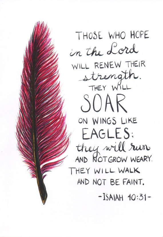 feather painting scripture quote isaiah 40 31 pdf by