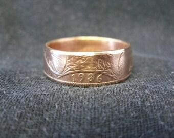 Handmade UK coin ring - 1936, size V 1/2 (US 11), (R322)