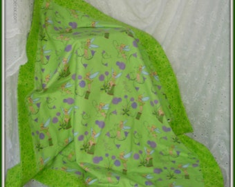 Tinkerbell is pixie perfect on this newborn baby blanket