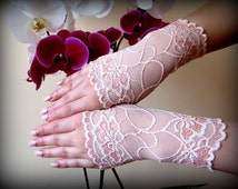 Luxury pink fingerless gloves Summer gloves Lace Mittens Short church gloves Lace gloves Prom gloves. Wedding gloves Made in the EU