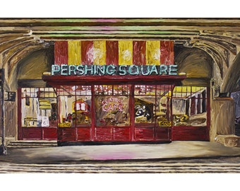 Pershing Square Cafe, New York City, Art Print