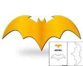 Template for Batgirl Chest Emblem