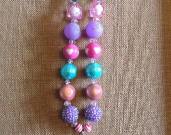 Princess Fairytale/Fairyland Castle Bubble Gum Bead Necklace